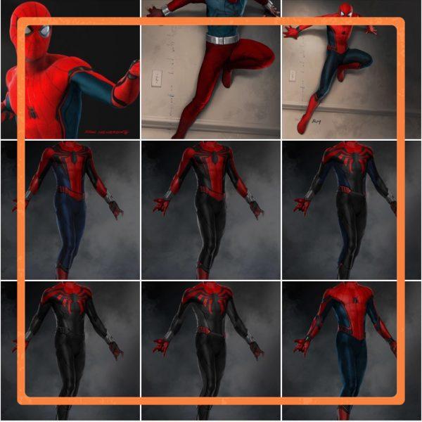 کانسپتآرت لباس اسپایدرمن در فیلم spider-man homecoming