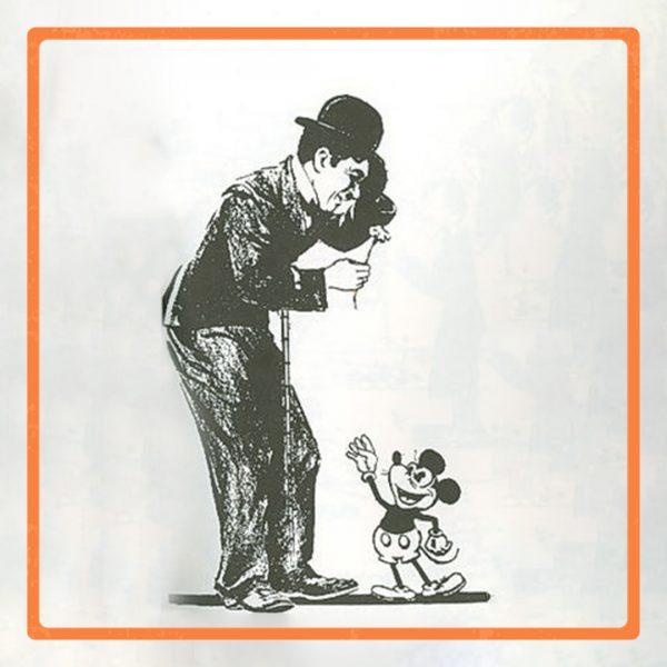 میکی ماوس و الهام از چارلی چاپلین